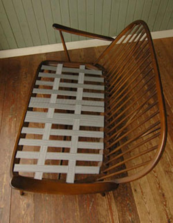 木枠のソファ