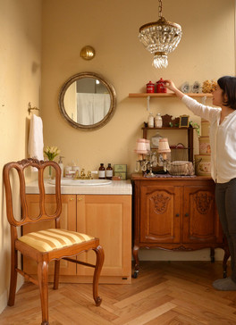 南フランスのガレットスタイルの洗面台