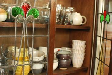 和食器とステンドグラス